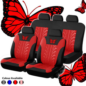 Seat Cover Universal Car Set Butterfly-Padrão Car Seat Cover Set Full Auto Styling Acessórios Interior