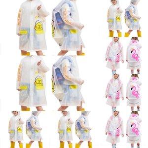 ragazze impermeabili 5cGop bambini addensate con i ragazzi zainetto impermeabile e mantello impermeabile asilo bambino poncho bambini Cloak Bag di