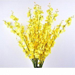 Kelebek Orkide Yapay Çiçekler Bouquet 5 Çatallar Orkide Sahte Çiçek İçin Düğün Festivali Ev Dekorasyon Aksesuarları Sroc #