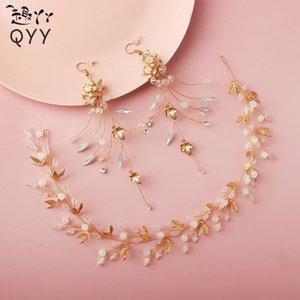 oHIQG accessoriesaccessoriesfairy Süper Fun ya ya seti yaprakları çiçek saç bandı Earrings crys Han giyim antik aksesuarlar mb4AO saç bandı