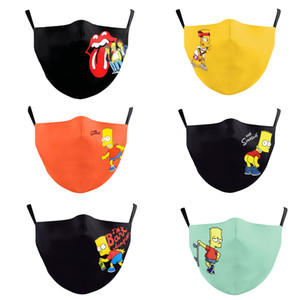 The new cartoon series The Simpsons creative fashion digital printing masks dust-proof and fog-proof cycling reusable masks