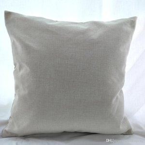 18x18 inches blank polyester linen pillow case for sublimation print poly burlap pillow cover blanks for DIY heat press printing