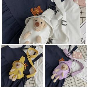 اعتصامات الدب لطيف للنساء دمية 2020 حقيبة الصدر جديد الدمية الكرتون للحصول على أفضل CROSSBODY صديق الصيف تشغيل حقيبة 4psRE