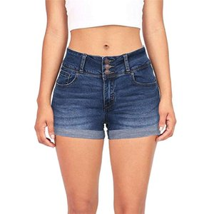 New Women's Solid Color Denim Shorts Hot Women's Low Waist Washed Solid Color Short Mini Jeans Shorts Spodenki Damskie