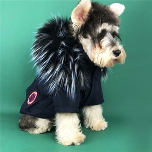 Tide Brand Dogs Outerwears Winter Thicken Warm Pets Down Jackets Schnauzer Teddy Pug Puppy Coats Dog Apparel Supplies
