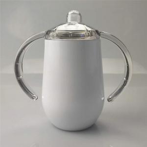 10oz sublimación tazas de Sippy con asas dobles 300ml botella niño con aislamiento de doble pared al vacío vaso taza de café botella de leche A07