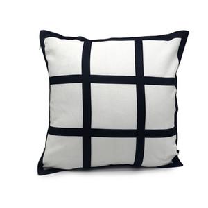 승화 패널 베개 40 * 40cm 격자 무늬 Pillowcover 폴리 에스테르 승화 흑백 격자 무늬 베개 쿠션 무료 배송 A02
