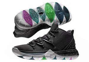 New Kyrie 5 Kids Basketball Shoes Black Magic For Sale Top Qaulitys Kyrie Store Mens Irving Sports Sneakers