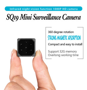 SQ19 Infrared Night Vision Mini Surveillance Camera 1080P Full-HD Camcorder Portable Micro Video Camera Recorder Built-in Microphone SQ8