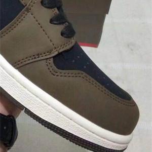 x 1s 1 Scotts scarpe basse Olimpiadi Travis Best Cactus Jack qualità scuro Mocha TS SP pallacanestro donne degli uomini di sport scarpe da tennis con la scatola