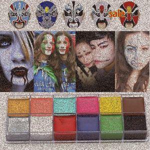 1 Set 12 Colors Flash Tattoo Face Body Paint Oil Painting Art Halloween Party Fancy Dress Beauty Makeup Tools mvXk#