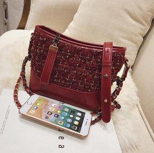 Bolsa de hombro mujeres Backet solo bolso de señora bolsos pequeños de la cadena cesta de la compra Hobo