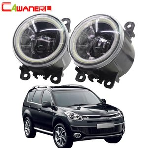Asamblea de luz antiniebla delantera Cawanerl para C-Crosser Car Styling ángel del LED Daytime Running Light Eye DRL 12V de alta brillante