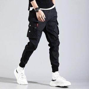 Hip Hop Men Pantalones Hombre High Street Kpop Casual Cargo Pants with Many Pockets Joggers Modis Streetwear Trousers Harajuku