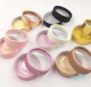 Cílios Caixa 3D olho falso Lashes caixas com Holder Clip Rodada cílios Casos Gift Box Caso pestana armazenamento SN4455