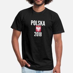 Polônia World Soccer Cup Design Futebol Jersey camisetas homens criam Padrão manga curta S-3xl Camisa bonito Básico Primavera Outono Novelty