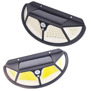 New LED Luz Solar 3 Modos Waterproof IP65 corpo em linha Sensor luz ao ar livre ao ar livre Caminho Light Recados