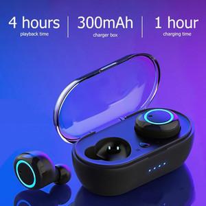 cgjxs تثنية -2 توس بلوتوث 5 0.0 التحكم باللمس سماعات الأذن للماء سماعات لاسلكية 3D ستيريو سماعة شحن مجاني