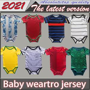 20 21 Tayland kalite Bebek forması 2020 2021 Real Madrid İspanya Arjantin bebek forma 6-18 ay futbol gömlek sürünmek elbise