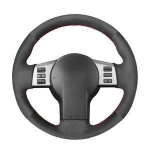 Cosida a mano de bricolaje Dirección de gamuza Negro de coches Cubierta de rueda para Infiniti FX FX35 FX45 2003-2008 2003-2009 350Z