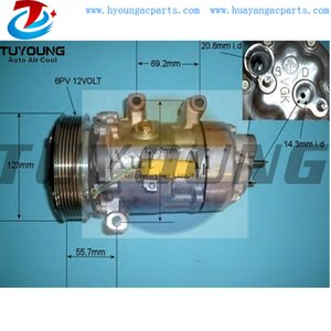 High quality PN# 6453PE 6453PF 9647213380 auto air conditioning compressor for Peugeot 307 air pump SD6V12 1444 1444F auto ac compressor