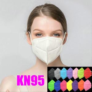 KN95 маски роскошь питание завода розничного пакет 95% фильтр не маскировать многоразовую 5 слоя против пыли защитной маски для лица Дизайнера Mouth маски нет клапана