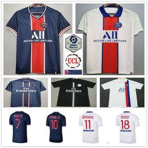 2020 2021 Париж футбол Джерси 7 MBAPPE DI МАРИЯ ICARDI VERRATTI Sarabia на заказ 20 21 Home Away Третий Мужчины Женщины Дети футбол рубашка