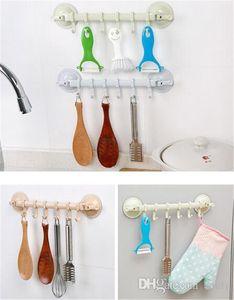 Gancho para herramientas de limpieza de cocina gancho ajustable Estante doble Ventosa de toallas titulares Estantes gancho para colgar Tipo de bloqueo del lechón