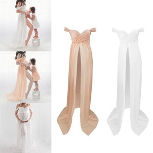 Maternity Off Shoulder Photography Props Dress for Pregnant Women Pregnancy Clothes Maternity Dresses for Photo Shoot