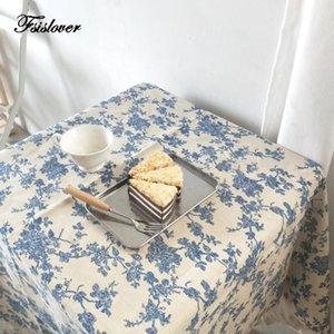 FSISLOVER Deco bricolage Floral Nappe Coton Nappe Nappes ronde Table à manger Couverture obrus Tafelkleed manteau mesa nappe
