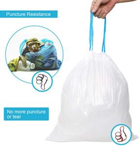الرباط أكياس القمامة، ورشاقته 4 جالون أكياس القمامة، سلة مهملات بواخر الركاب حقيبة، وأكياس القمامة البلاستيكية للحمام غرفة نوم مكتب سلة مهملات