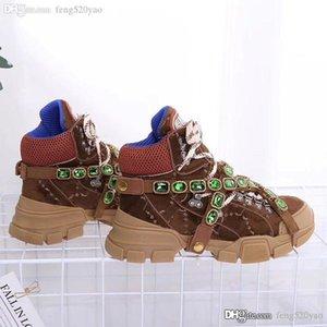 {} Original del logotipo de Martin botas zapatos 100% de diamante de cuero de lujo de los hombres de las mujeres calzados informales de otoño invierno la plataforma del diseñador de moda las botas cortas