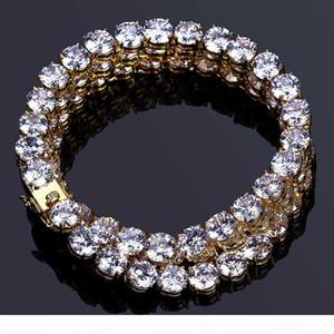 8mm Hip Hop Gold Bracelet Men's Cuban Chain Iced Out Bling Bling Zircon Bracelet