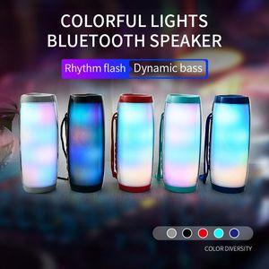 TG157 LED Flashing Lights Bluetooth Speakers Portable With Rope Outdoor Loundspeaker 1200 mAh Fabric Waterproof Subwoofer FM Radio