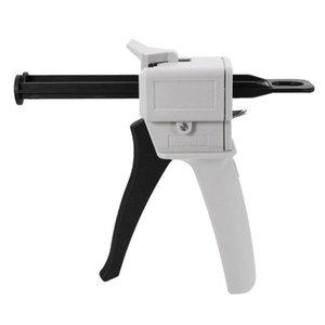 Pistola para calafatear AB epoxy pegamento pistola aplicador de cola adherente cartucho 1: 2 AB Manual dispensador de 50 ml de capacidad
