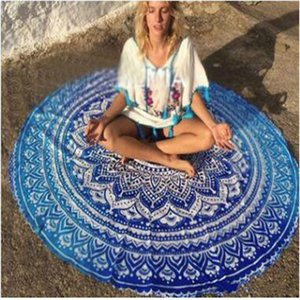 Shawls Bohemian Towels Pads Round Outdoor Colorful Beach Cover-up Style 145*145cm 20 Large Bikini Blanket ABC2007 nsdkr
