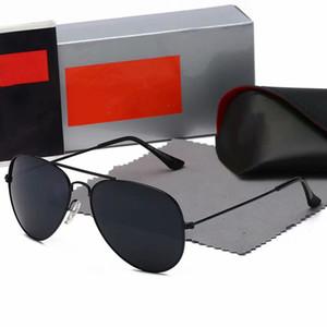 2020 neue Sonnenbrille Weinlese-Pilot Marke Sun-Glas-Band polarisiert UV400 Bans Männer Frauen Ben Sonnenbrille mit Kasten und Case 3025