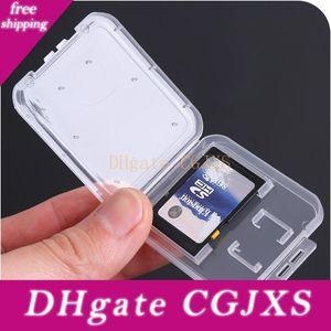 Casos de Cartão transparente Cartão de Memória SD / TF Proteção Caixa de armazenamento da câmera pequeno White Box alta -grade de plástico