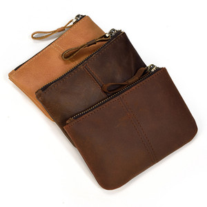 Genuine Leather Handbags Fashion Coin Purses Retro Cowhide Square Classic Wallet Card Key Small Container Hot Sale 19lf C2
