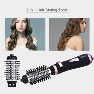cgjxs2 В 1 Многофункциональный электрический Фен Кисть Валик Вращая Styler Гребень для выпрямления Curling Iron Hair Styling Tools T200320