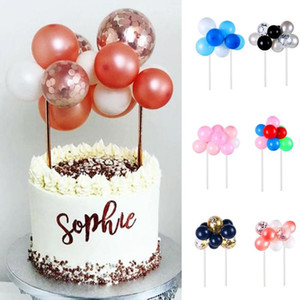 Cake Decoration Rose Gold Sequin Balloon 10 Piece Set Mini Balloon Cake Topper Wedding Birthday Decoration Set
