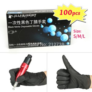 Hot 100pcs Disposable Gloves Nitrile Anti-pollution Tattoo dish Washing kitchen work garden Gloves Universal For Left And Right Hand