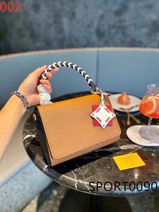 Оригинальный стиль 20SS кожаные сумки высокого качества Twist средний замок твист сплетенный портативный одного плеча посыльного конверт мешок