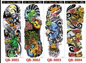 Temporary Tattoo Sticker Arm Fake Tattoo Sticker Skull Lion Dragon Body Paint Waterproof Transfer Fake Tattoo Sleeve
