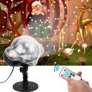 눈 야외 디스코 스타 조명 크리스마스 장식을 이동 크리스마스 눈송이 눈이 프로젝터 IP65 정원 프로젝터 램프