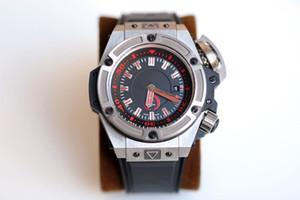 Venta al por mayor Top Versión 48mm Titaniumcase 731 Green Dial 1400 AutomaticMechanical Mens Watch Sapphire Rubbersport Watches Eternity Watch Shop