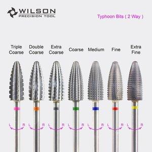 Bit Typhoon (Fastest Remover AcrylicsGels) -Dois direcional (para toda a mão uso) -WILSON Carbide prego broca CX200812