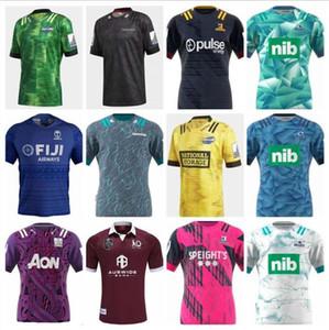 Novas 2020 camisas 2021 Chiefss Maori azuis furacões cruzados Highlanders Super Rugby Jersey 20 21 Zealand Rugby Camisolas de qualidade superior