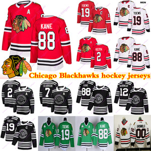Chicago Blackhawks Jerseys 00 Griswold 19 Jonathan Toovs 88 Patrick Kane 2 Duncan Keith Clark Griswold Brandon Saad Hóquei Jersey