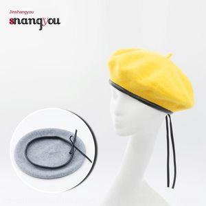 rvcqK Нового зажатого хуа Jia мао хуа Jia мао художник шляпу шерстяного кружево регулируемой шерстяного кружева крышка живописца колпачком женщины осенью и зима мода га